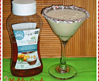 Steviva Blogger Recipe Challenge...Featuring Holiday Candy Cane Cocktail #steviva #nectevia #sweetandeasy #peppermint