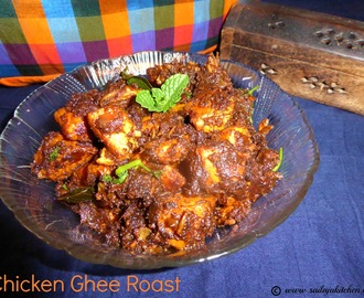 Chicken Ghee Roast / Mangalore Style Chicken Ghee Roast / Ghee Roast Chicken Recipe /Chicken Dry Roast