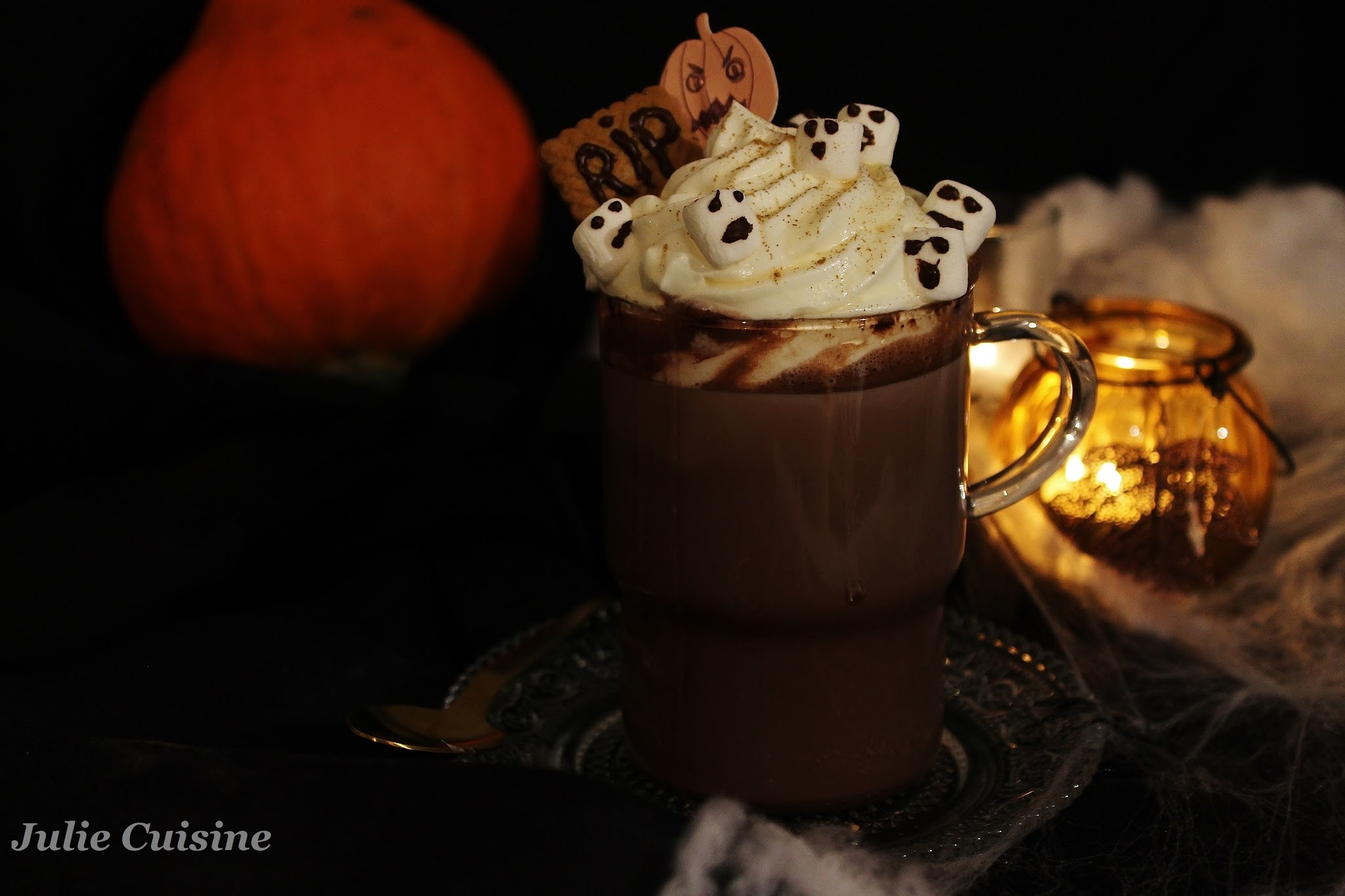Chocolat Chaud gourmand d'Halloween