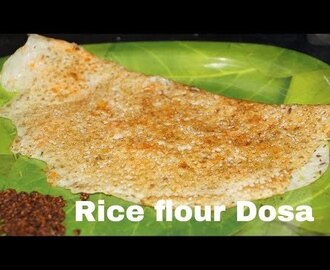 Instant Rice Flour Dosa Recipe Biyapindi Dosa in Telugu by Amma Kitchen-...