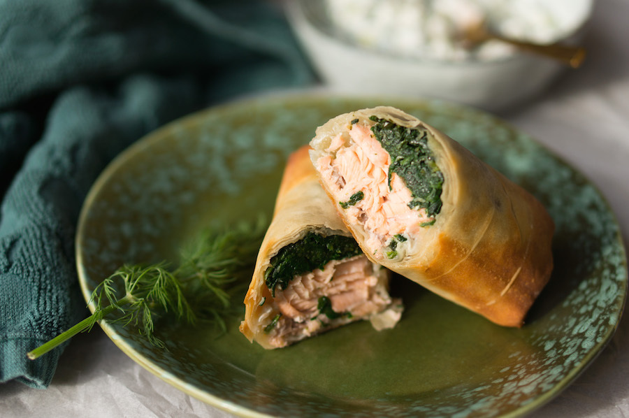 Culy Homemade: zalm & spinazie wraps in filodeeg