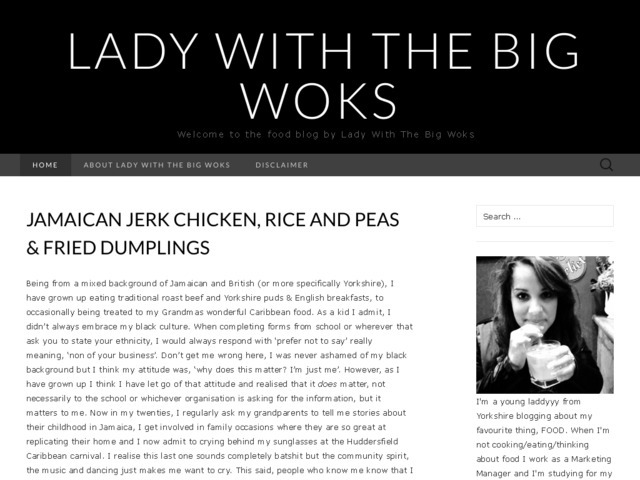 Lady with the big woks