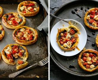 Mini tomato and chevin tarts (with video)
