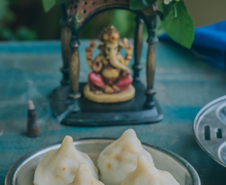 Sweet Potato and Chana Dal Modak/Sarkaraivalli kizhangu and Kadalai Paruppu Modagam, Vinayagar Chathurthi Recipe