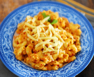Pasta In Red Pepper Sauce