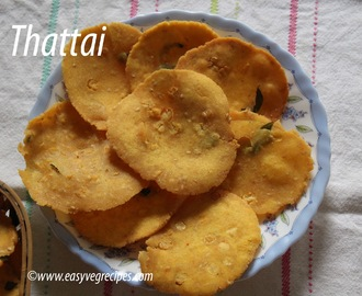 Thattai Recipe -- How to make Thattai