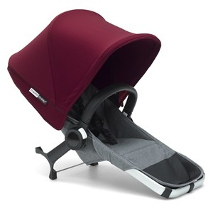 Bugaboo Bugaboo Donkey² Duo Extension Set Complete Grey/Red Duo Extension Set Grey/Red