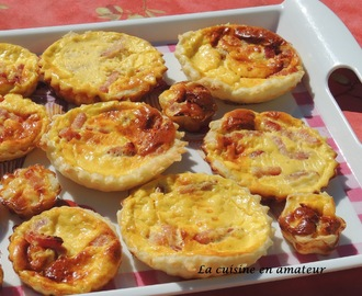 Mini quiche à la pâte minute Tupperware