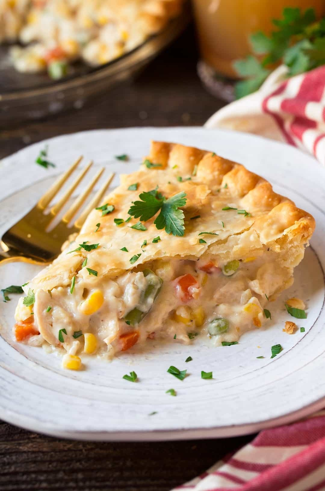 Shortcut Chicken (or Turkey) Pot Pie