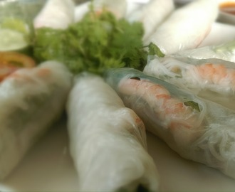 Recipe for Shrimp Spring Rolls and Peanut Butter Sauce | Guest Post