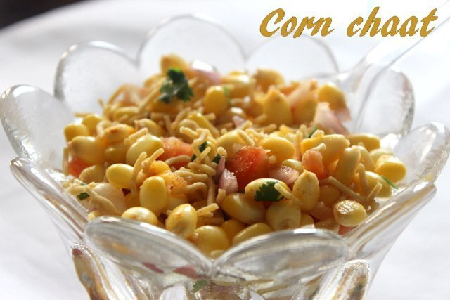 Corn chaat recipe – How to make sweet corn chaat/masala corn chaat recipe – corn recipes