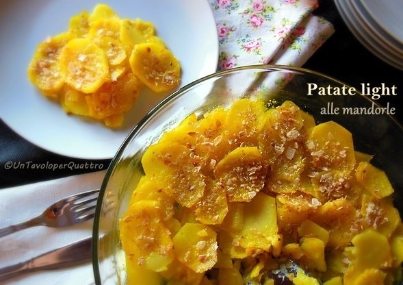 Patate light alle mandorle