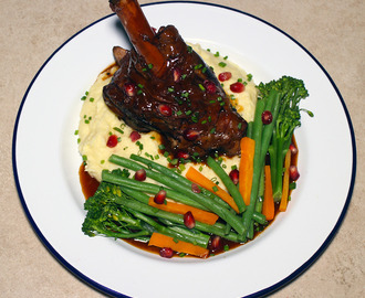 Slow Cooker Lamb Shanks with Celeriac Mash