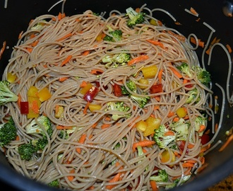 Asian Cold Noodle Salad Easy #Vegan #LowFat #Lunch