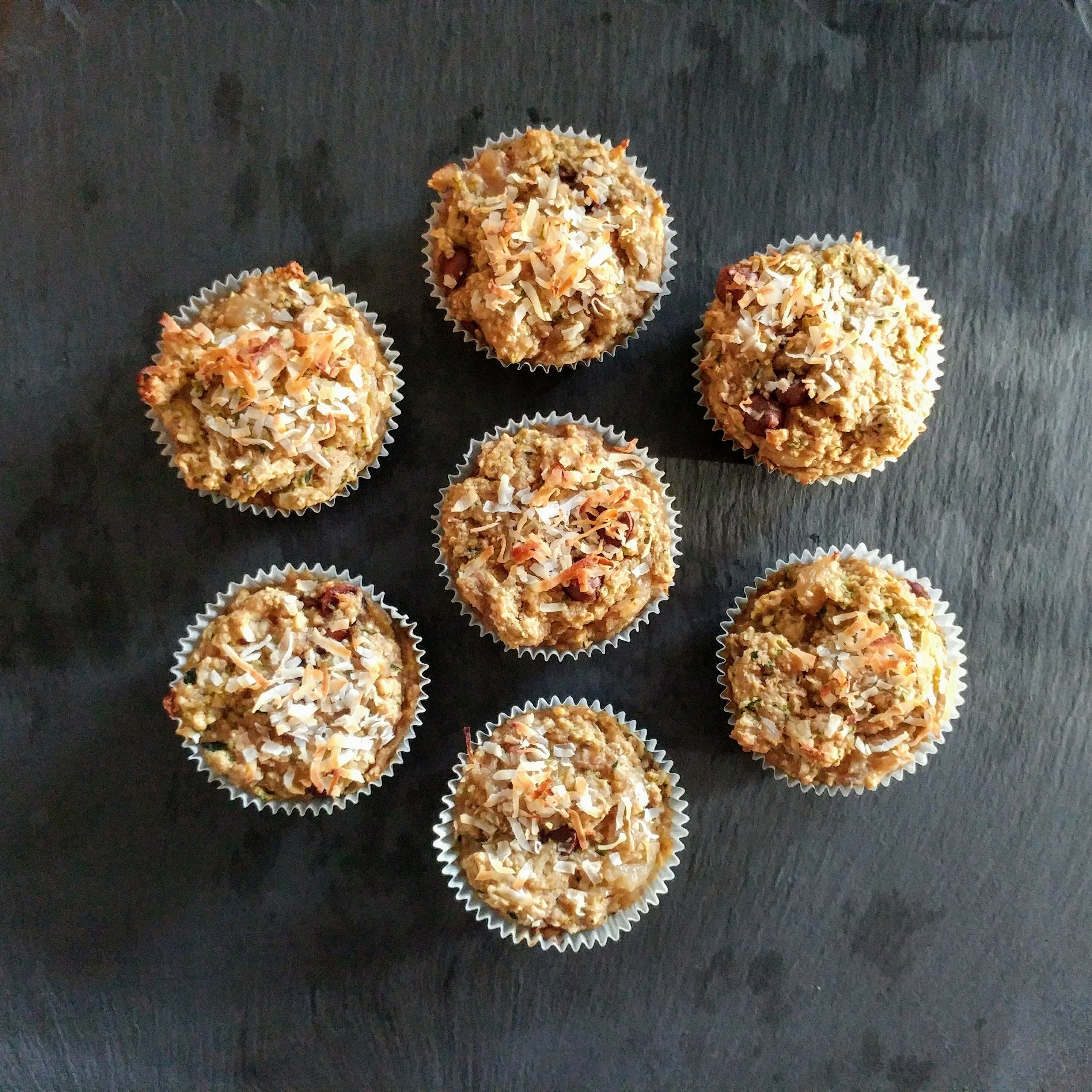 Vegan Energy Muffins: Packed with Zucchini, Bananas, and Walnuts