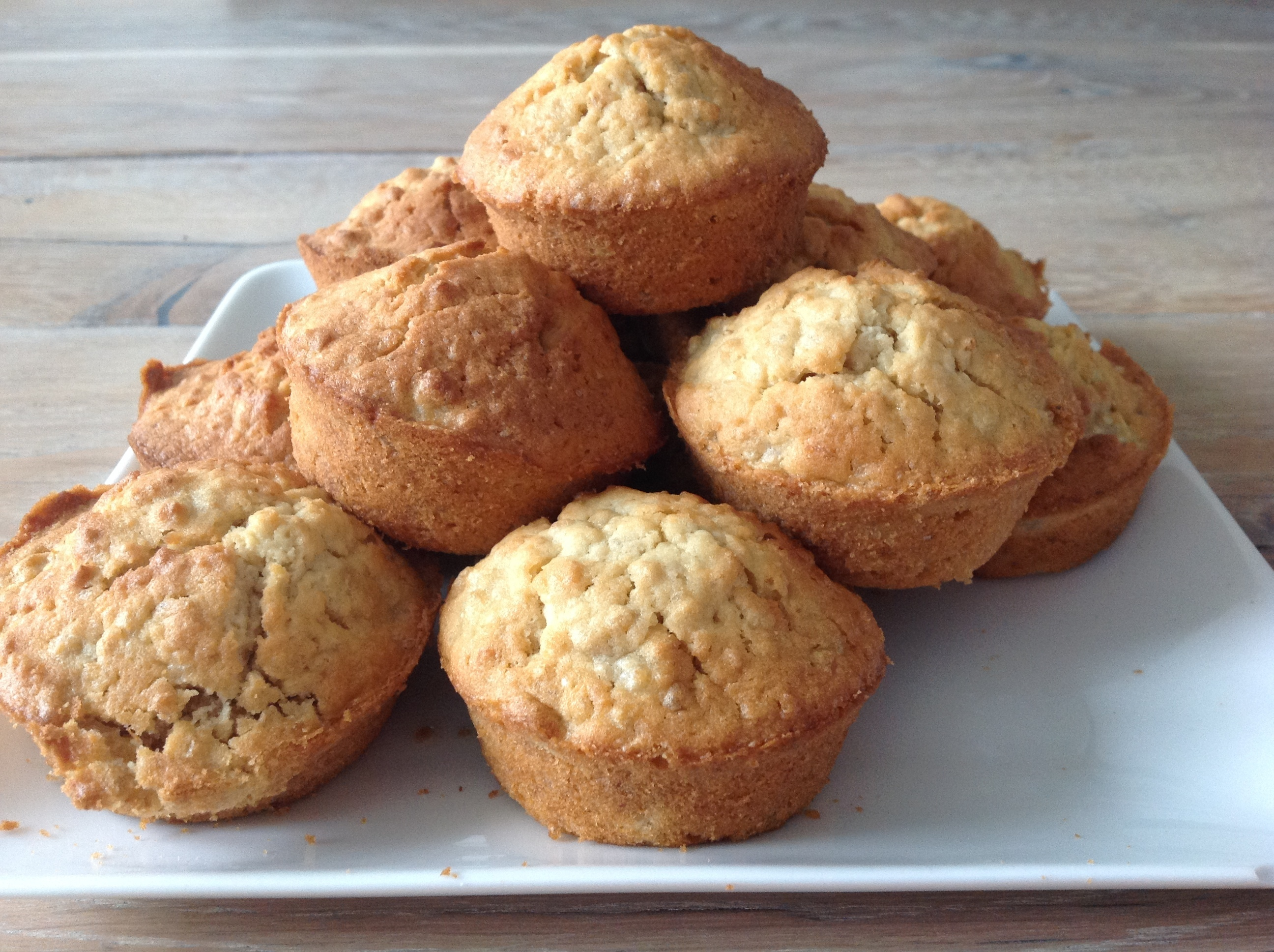 Suikervrije havermout muffins