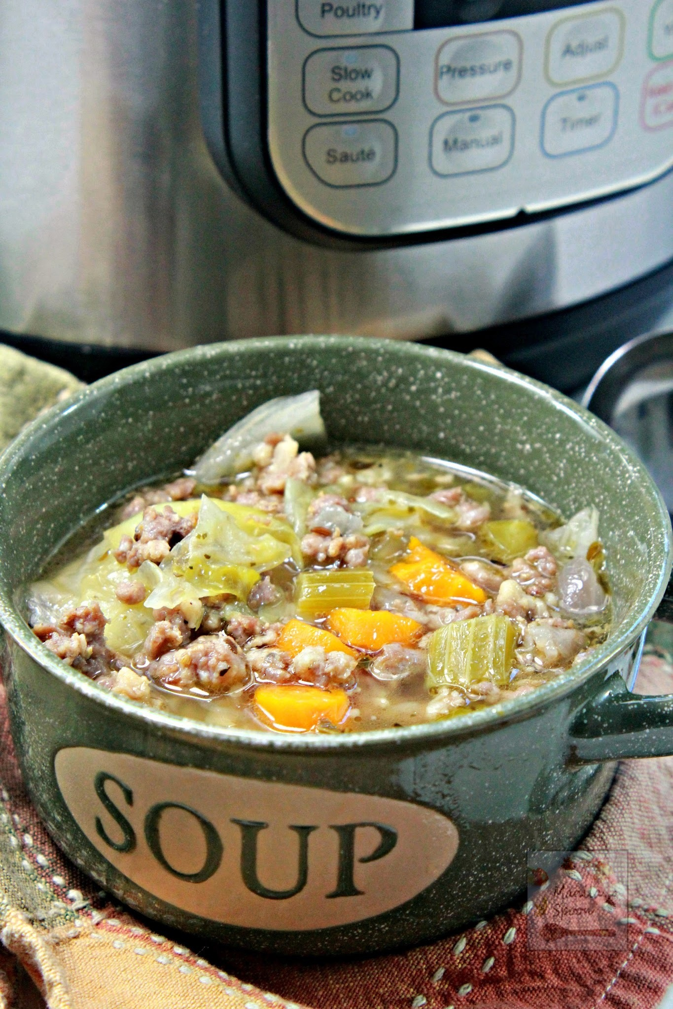 Instant Pot Sausage and Cabbage Soup