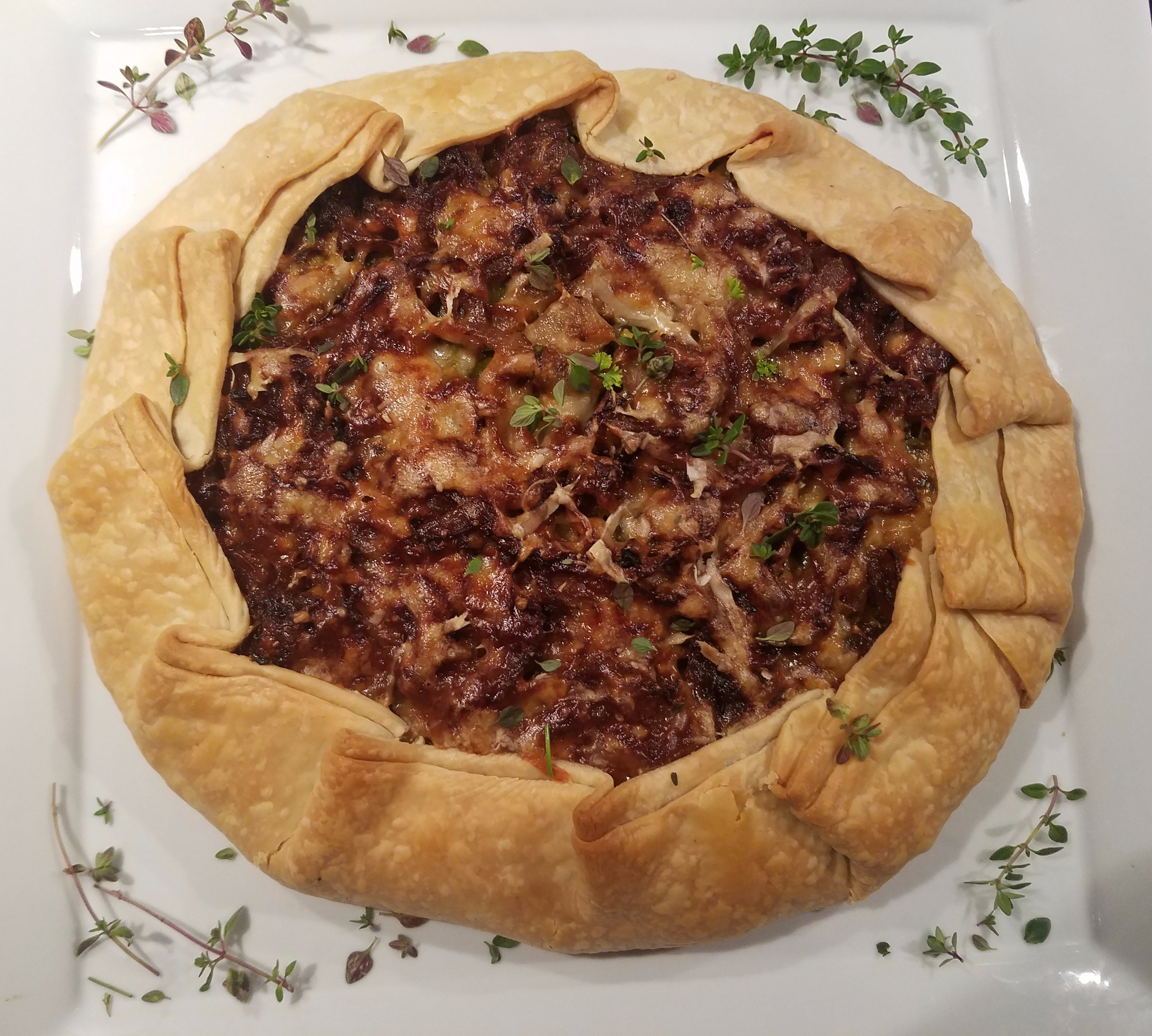 Meatless Monday – Caramelized Onion & Brussels Sprouts Galette