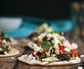 Shredded Beef Tacos with Tequila Short Ribs and Creamy Salsa Verde