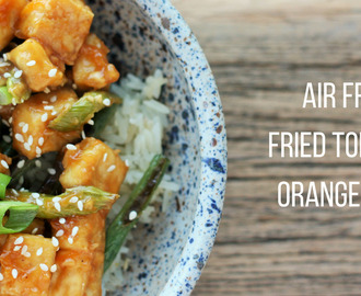 Air Fryer Fried Tofu With Orange Sauce