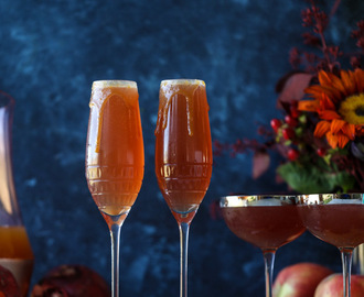 Cider Mimosas - Pomegranate Apple Cider Mimosas