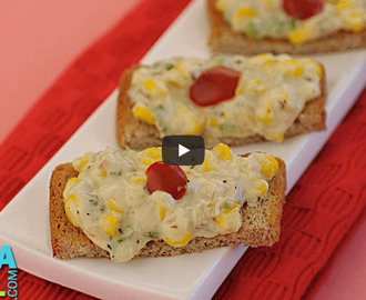 Corn and Cheese Toast Recipe Video
