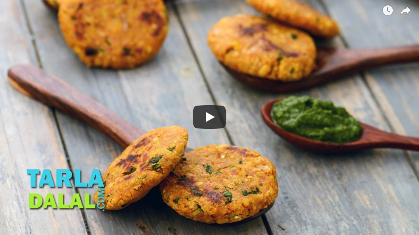 Oats Moong Dal Tikki Recipe Video