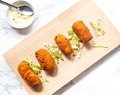 Spanish croquettes with serrano ham