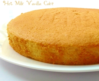 hot milk vanilla sponge cake