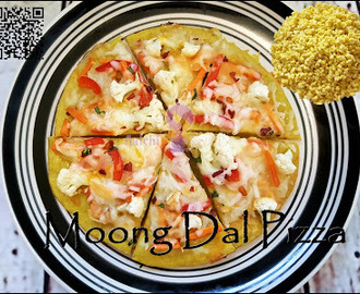 Desi Moong Dal Veggie Pizza