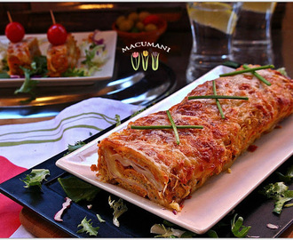 ROLLO DE PATATA RELLENO DE JAMON YORK Y QUESO ( SUPER FACIL  )