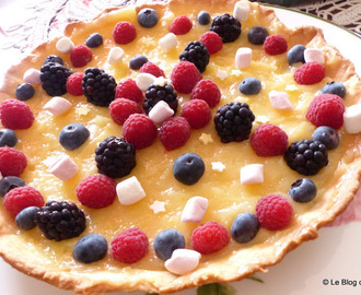 Tarte au citron et fruits rouges