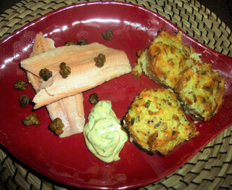 Smoked Trout with Dill and Chive Potato Rosti, Crispy Caper's and Herb Mustard Mayo Recipe – spaulyseasonalservings