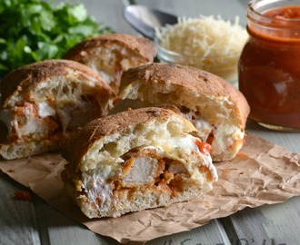 Cheesy Chicken Parmesan Sandwiches & Basil Garlic Aioli