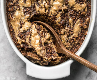 Peanut Butter Brownie Baked Oatmeal - Budget Bytes