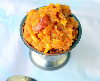 Carrot Halwa With Khoya In Pressure Cooker–Gajar Ka Halwa With Khoya