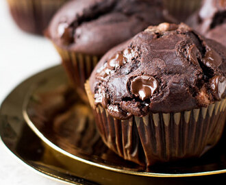 Dubbele chocolade muffins
