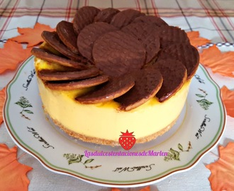 Tarta de Natillas y Galletas de Chocolate