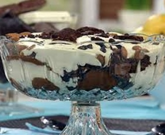 Trifle de chocolate rapido
