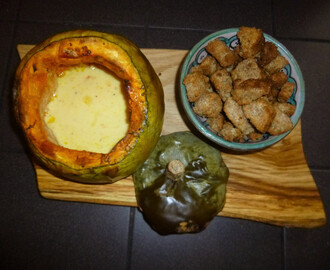 Squash Cheese Fondue with Sage and Rosemary Dipping Crouton's Recipe