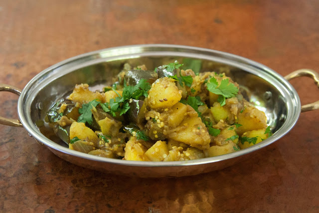 Aloo Baingan : Eggplant and Potato, A Perfect Pairing.