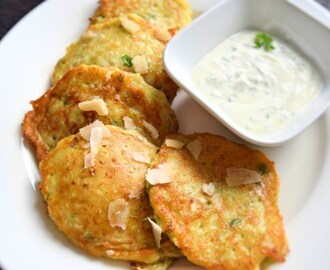 Healthy zucchini pancakes