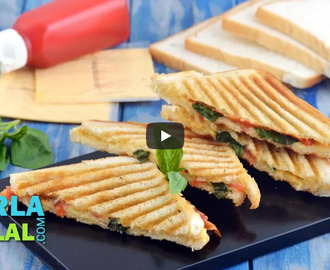 Grilled Tomato and Cheese Sandwich Recipe Video