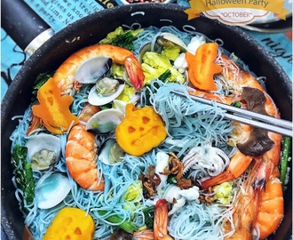 [recipes + videos] Halloween Themed Food with Japanese Curry and Seafood Bee Hoon
