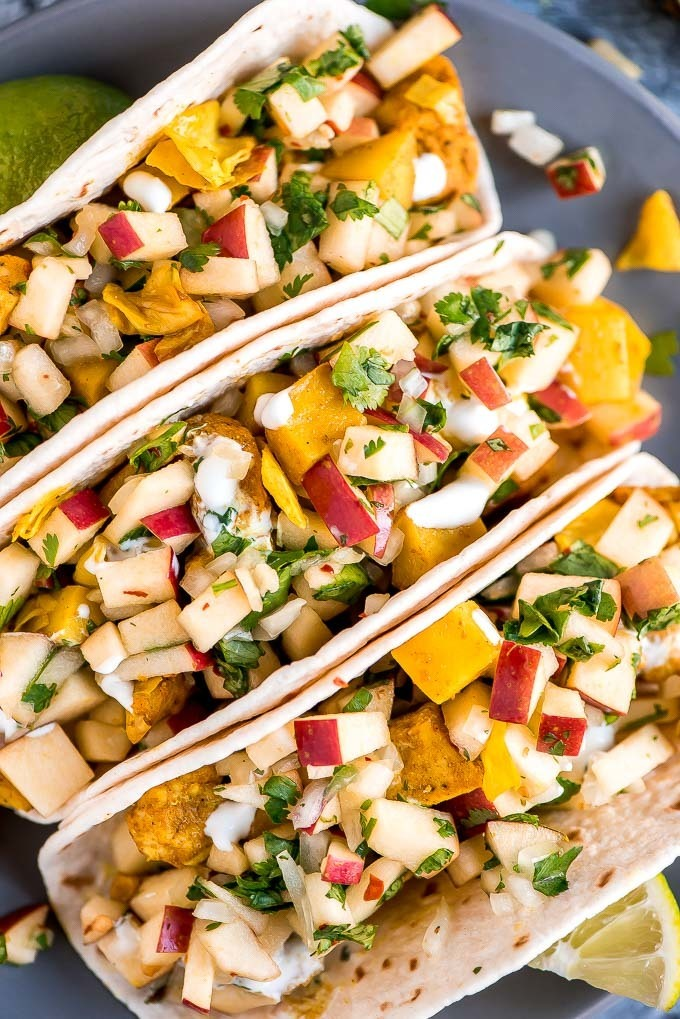 Chicken Cabbage Potato Tacos