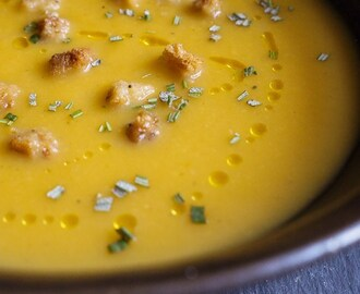 Pumpkin Pear and Ginger Soup