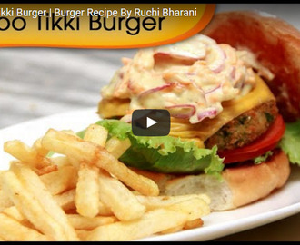 Veg Aloo Tikki Burger Recipe Video