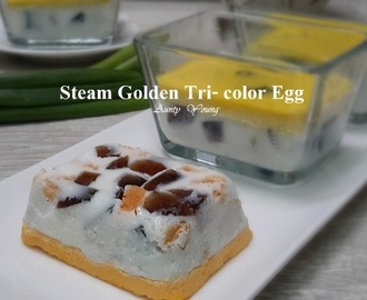 蒸黄金三色蛋 (Steam Golden Tri- color Egg)