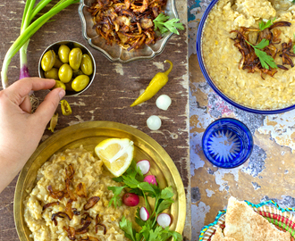 Palestinian lentils and rice (Musalwaa)