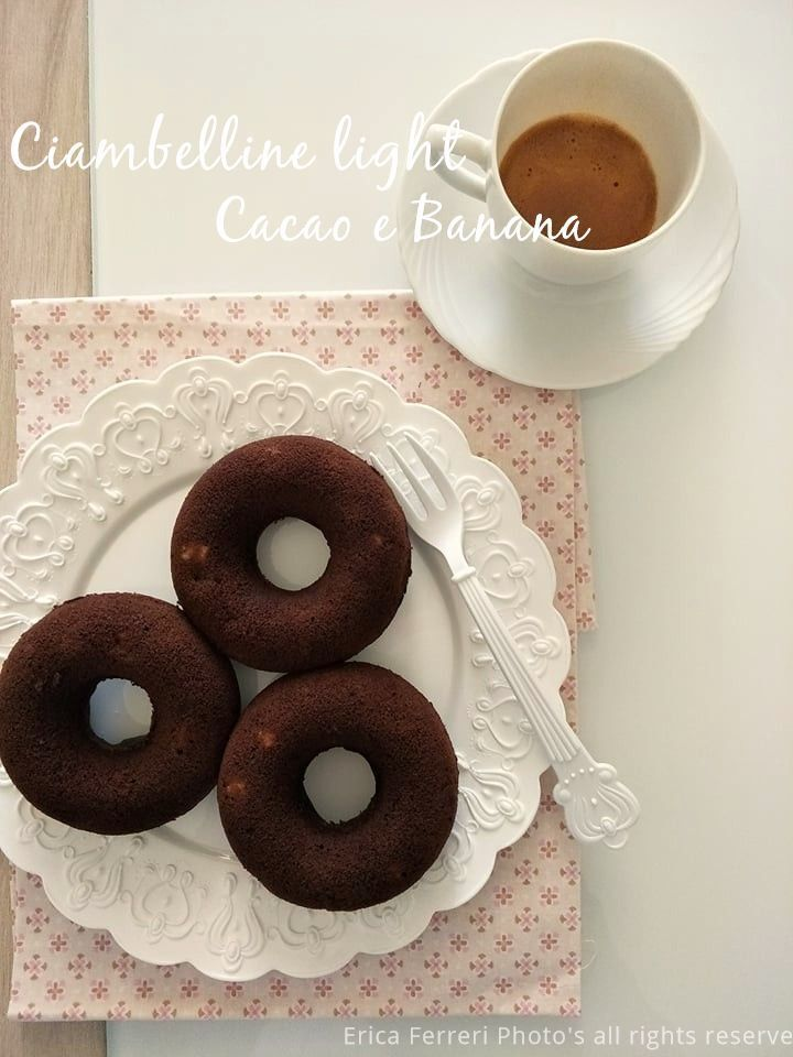 Ciambelline vegane super light cacao e banana